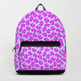 Pink Hibiscus with Blue Background Backpack