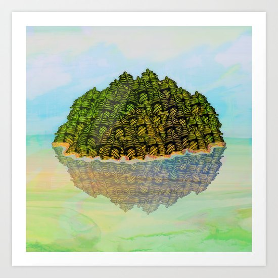 Lost in the Green Island / Nature 05-12-16 Art Print