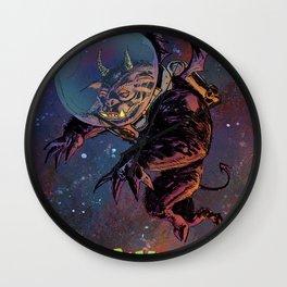 Black Space Demon Wall Clock