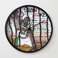 nba Wall Clocks featuring NBA PLAYERS - Shawn Kemp by Ibbanez
