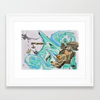 political Framed Art Prints featuring Political Tensions by Quinten Sheriff