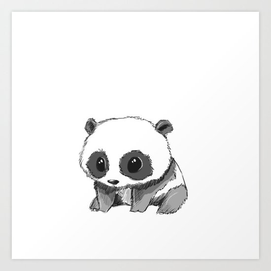 PANDA Art Print by Andrea Lacuesta Art