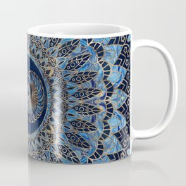 Egyptian Scarab Beetle Gold and Blue marble Coffee Mug