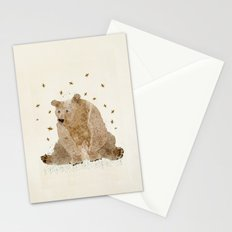 bear grizzly  Stationery Cards