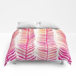 Pink Ombré Seaweed Comforters