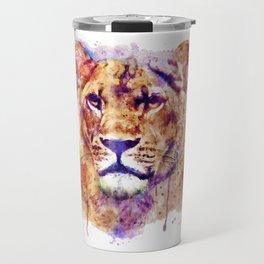 Lioness Head Travel Mug