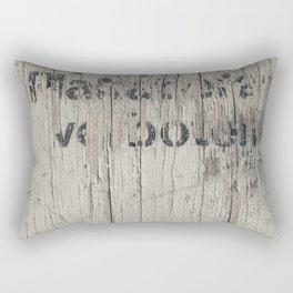 TEXT ON TEXTURE Rectangular Pillow