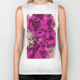 Purple Rose Watercolor Biker Tank