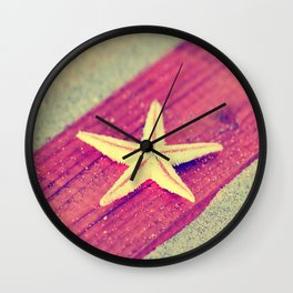 Stars and Stripes on the beach Wall Clock