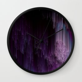 Darkness Glitches Out - Abstract Pixel Art Wall Clock