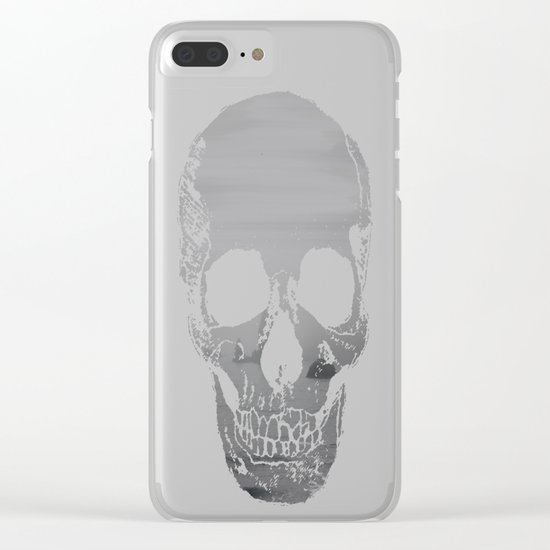 The Grey Rocks Clear iPhone Case