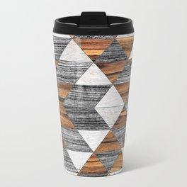 Urban Tribal Pattern 12 - Aztec - Wood Travel Mug