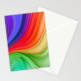Abstract Rainbow Background Stationery Cards