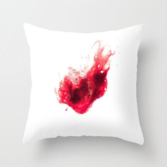 Spit Blood Heart Shape Throw Pillow