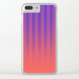 Gradient Stripes Pattern pr Clear iPhone Case