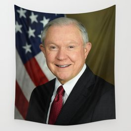 Jeff Sessions Portrait Wall Tapestry