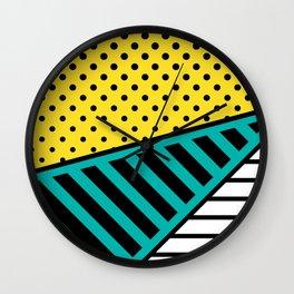 Memphis Design Pattern 10 Wall Clock