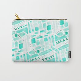Watercolor Pattern Play in Green Carry-All Pouch