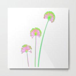 three flowers 2 . Metal Print