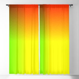 Rainbow red, yellow, and green ombre flame print Blackout Curtain
