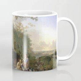 Adam Pynacker - Landscape With Sportsmen And Game Coffee Mug