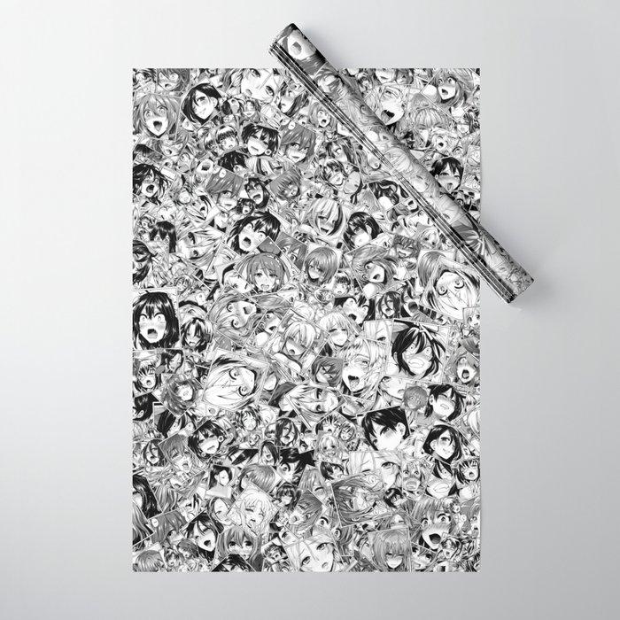 Manga ahegao Wrapping Paper