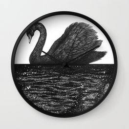 The Other Side: Black Swan Wall Clock