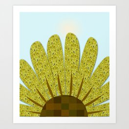 Mumms in Sunflower Art Print