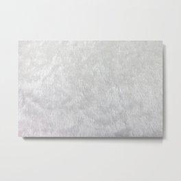 White Faux Fur Texture Metal Print
