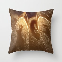 Cats carrying lights Throw Pillow