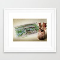 watercolour Framed Art Prints featuring Watercolour by liberthine01