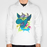 rave Hoodies featuring Rave Dragon by Clair C