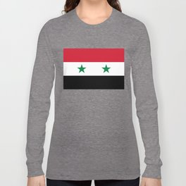National flag of Syria Long Sleeve T-shirt