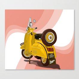 Vespa Vector yellow Canvas Print