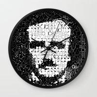 poe Wall Clocks featuring Poe by Artstiles