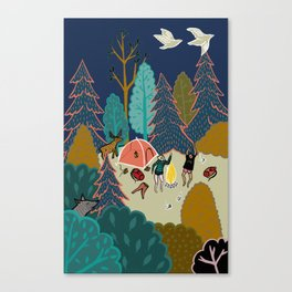 Welcome to Our Place in the Woods Canvas Print