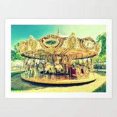 Carousel Merry-G0-Round Art Print