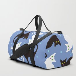 Cats Blue Duffle Bag