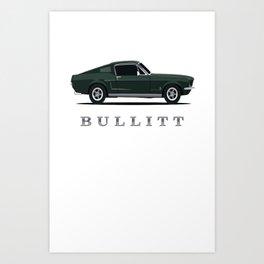 Mustang Bullitt Art Print