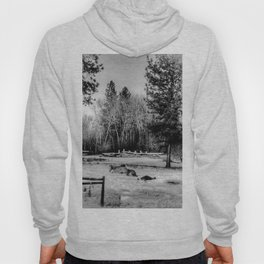 Snow Horses - Black And White Hoody