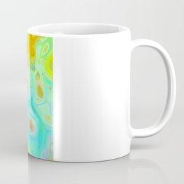 Emerging Galaxies – Abstract Teal & Lime Currents Coffee Mug