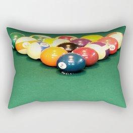 Billiard Balls Racked Rectangular Pillow