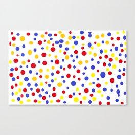 drops of colourful dots Canvas Print