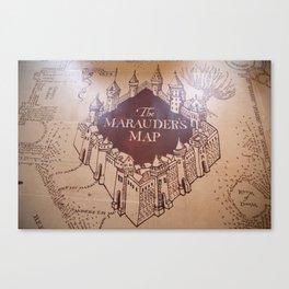 The Marauders Map Canvas Print