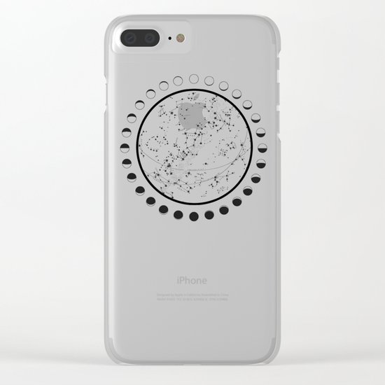 Vintage star map Clear iPhone Case