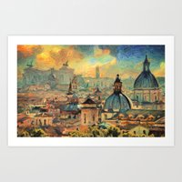 rome Art Prints featuring Rome by Taylan Soyturk