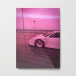Vaporwave night Metal Print