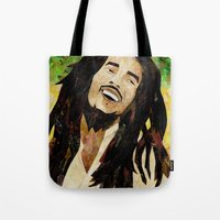marley Tote Bags featuring Marley Collage by Emily Harris
