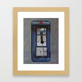 Payphone Framed Art Print