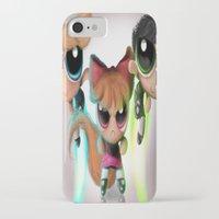 powerpuff girls iPhone & iPod Cases featuring Powerpuff Girls by A.D.A. Apparel